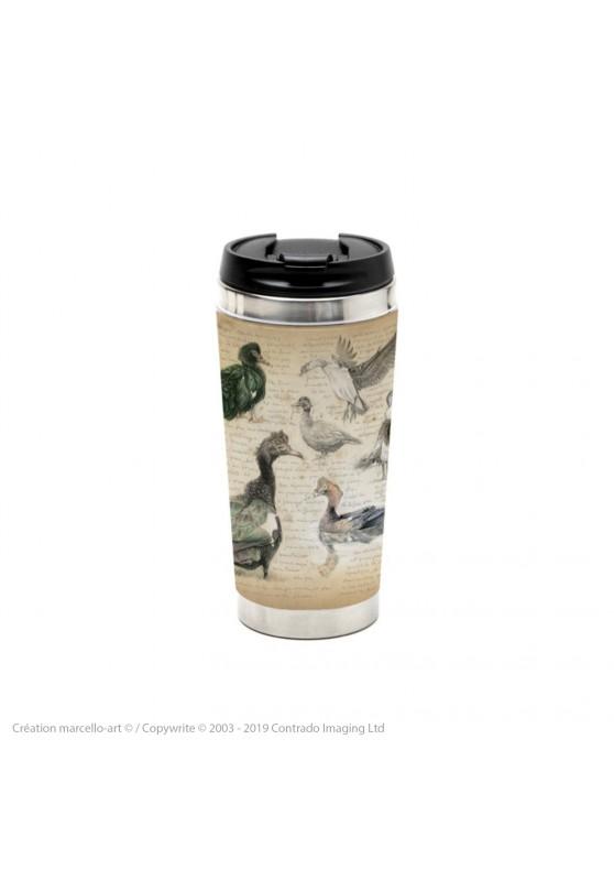 Marcello-art : Accessoires de décoration Mug thermos 238 Canard musqué et Canard à bosse
