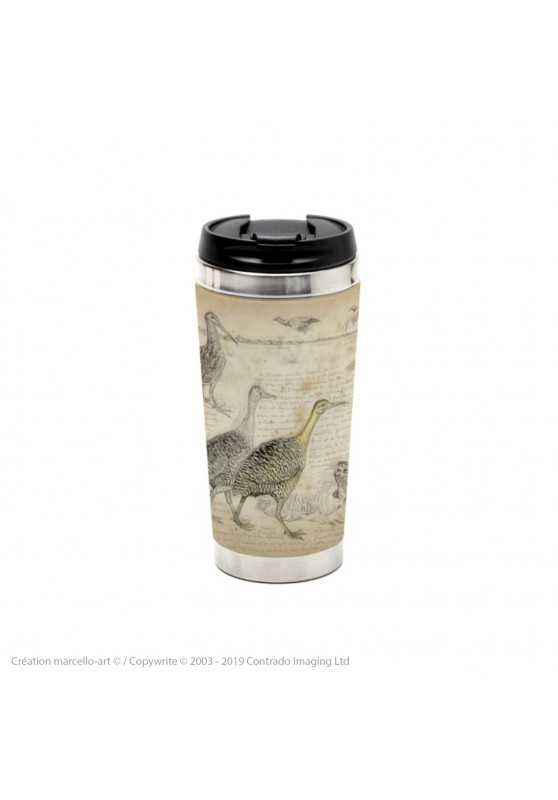 Marcello-art: Decoration accessoiries Thermos mug 240 Tinamou & Snipe