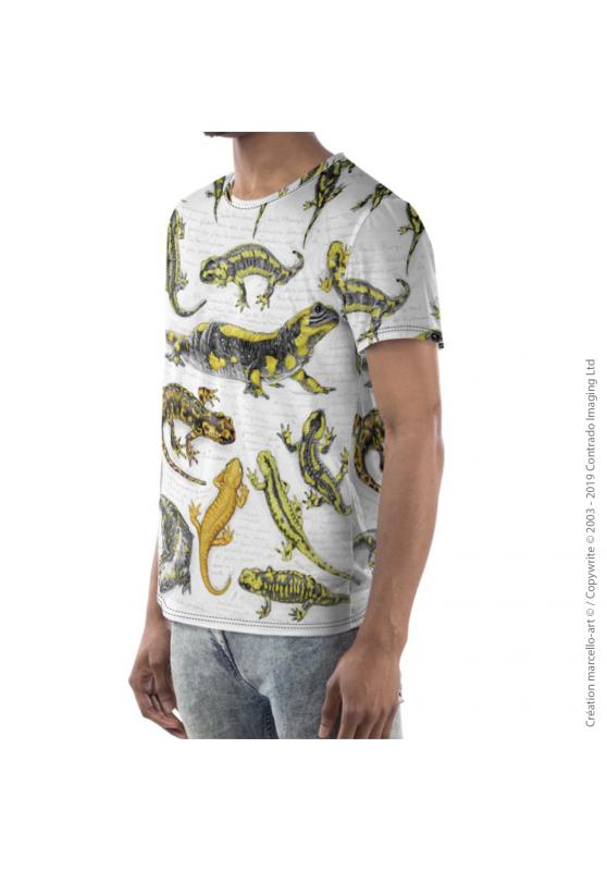 Marcello-art: Short sleeved T-shirt Short Sleeve T-Shirt 383 Salamanders