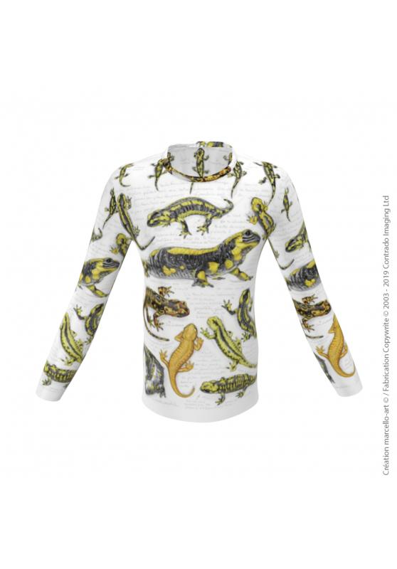 Marcello-art : Pour hommes T-Shirt manches longues 383 Salamandres