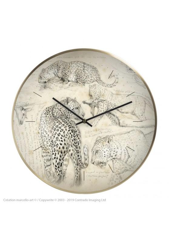 Marcello-art: Decoration accessoiries Wall clock 01 Leopard