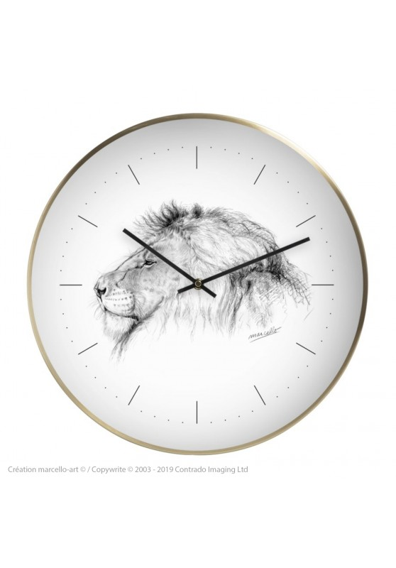 Marcello-art: Decoration accessoiries Wall clock 05 lion IGF