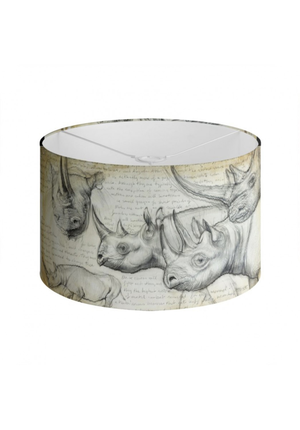 Marcello-art: Decoration accessoiries Lampshade 176 Black rhino