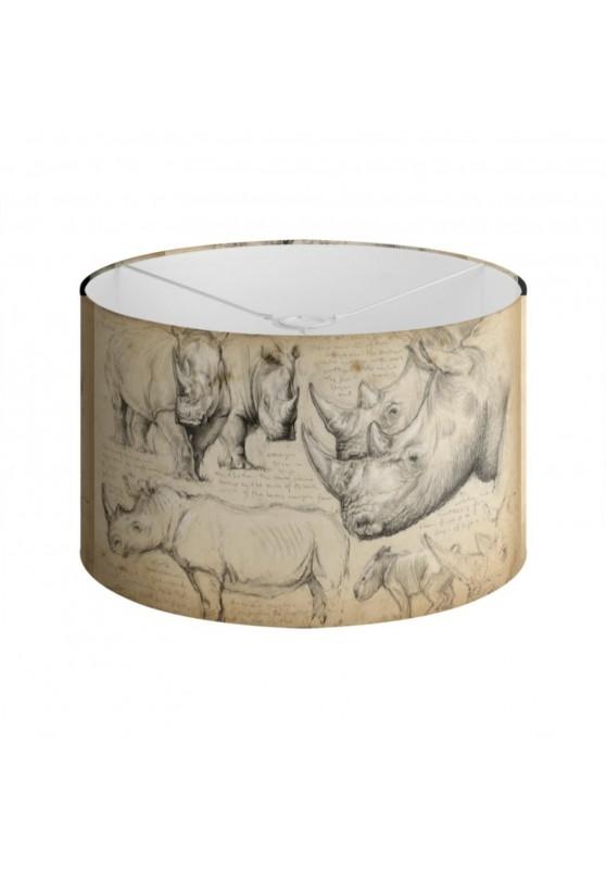 Marcello-art : Accessoires de décoration Abat-jour 178 Rhinocéros blanc