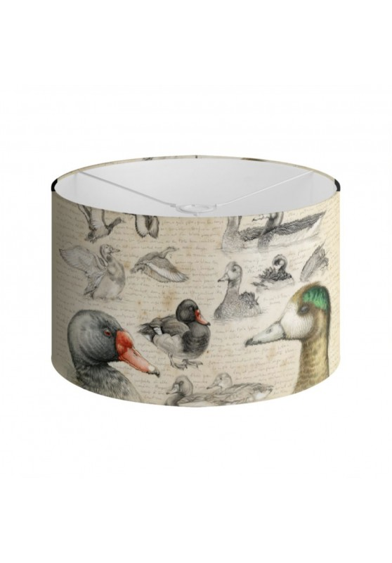 Marcello-art: Decoration accessoiries Lampshade 236 Chiloé Wigeon & Rosy-billed Pochard