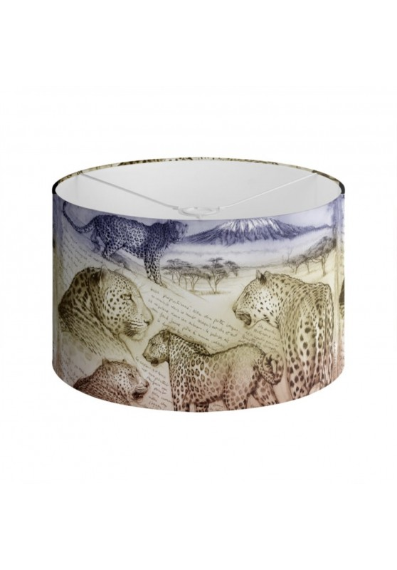 Marcello-art: Decoration accessoiries Lampshade 252 Leopard sunset