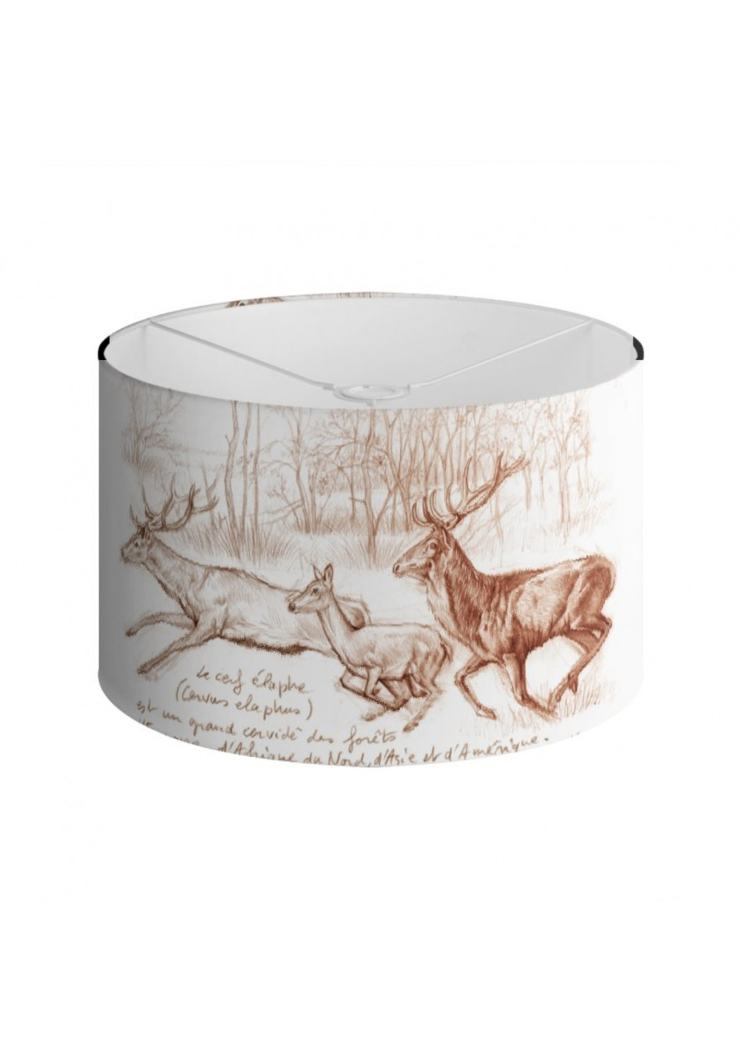 Marcello-art: Decoration accessoiries Lampshade 271 Red deer sepia