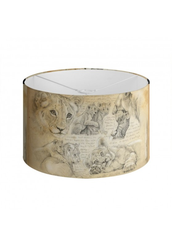 Marcello-art: Decoration accessoiries Lampshade 331 Lion cubs