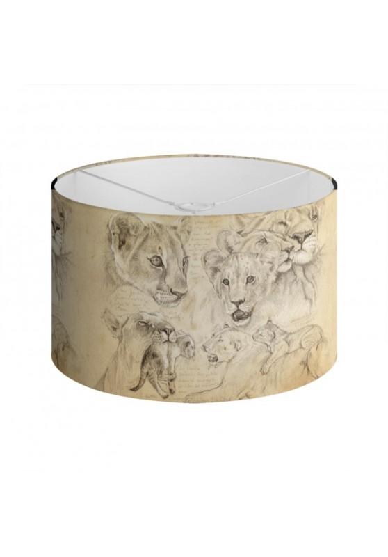 Marcello-art: Decoration accessoiries Lampshade 335 Lion cubs