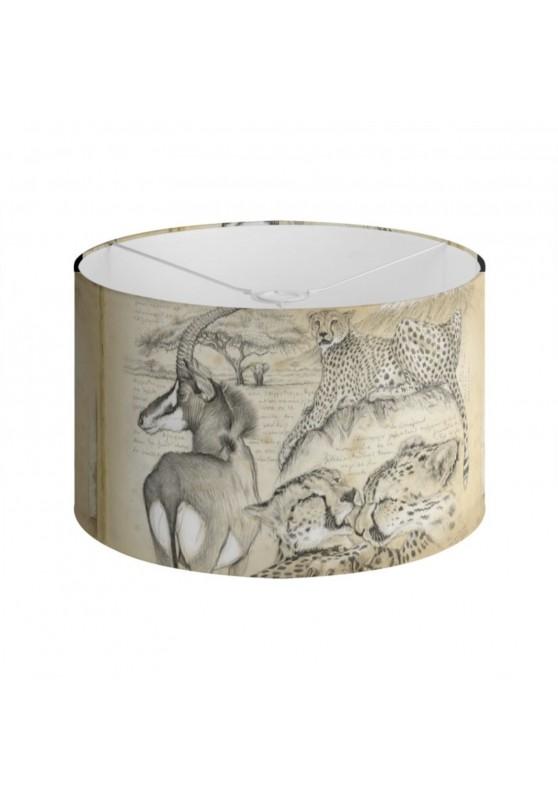 Marcello-art : Accessoires de décoration Abat-jour 363 Guépards et antilope sable
