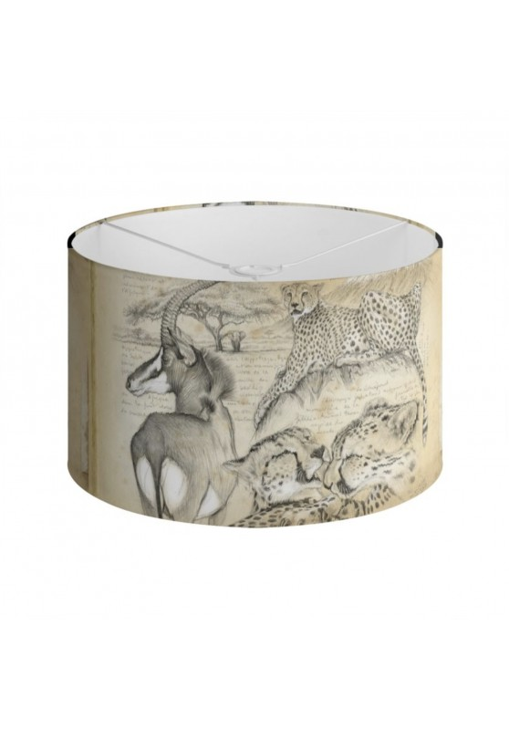 Marcello-art: Decoration accessoiries Lampshade 363 Cheetah and sable antelope