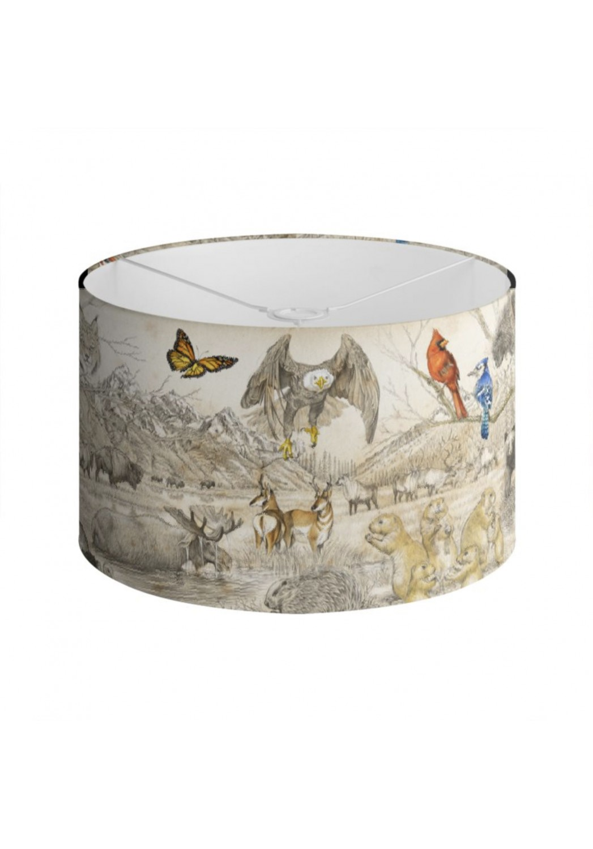 Marcello-art: Decoration accessoiries Lampshade 393 Wildlife North America