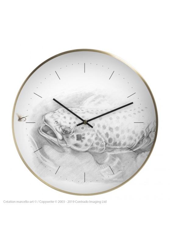 Marcello-art : Accessoires de décoration Horloge murale 46 Truite des gaves