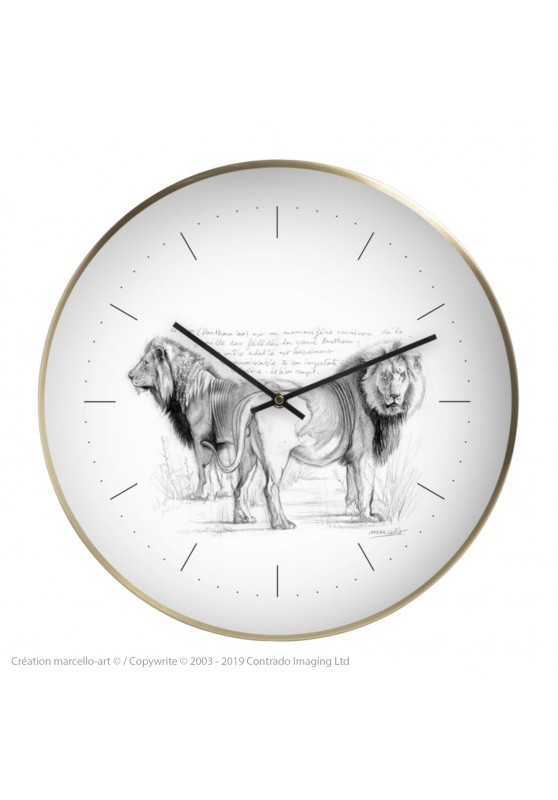 Marcello-art: Decoration accessoiries Wall clock 54 Lions brothers