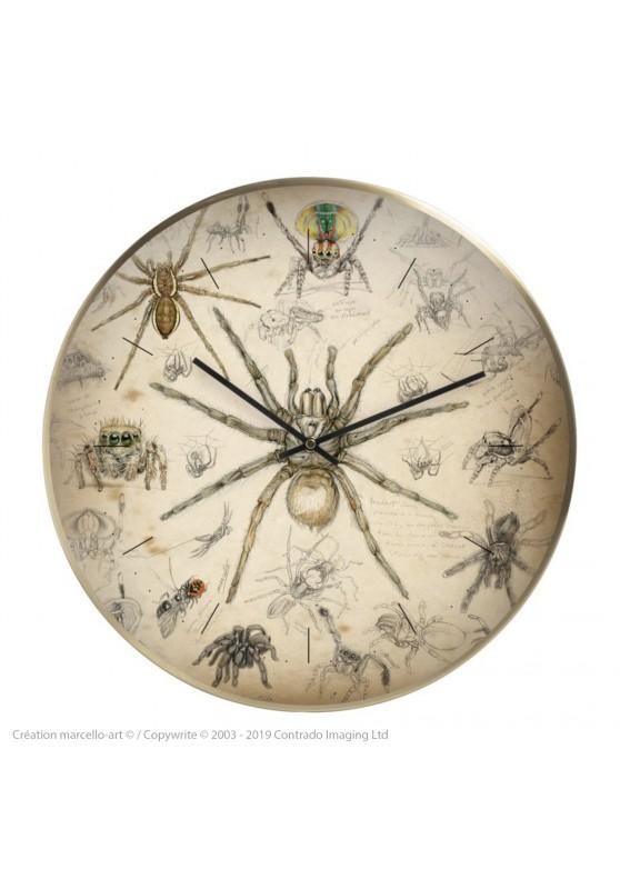 Marcello-art : Accessoires de décoration Horloge murale 82 Arachna