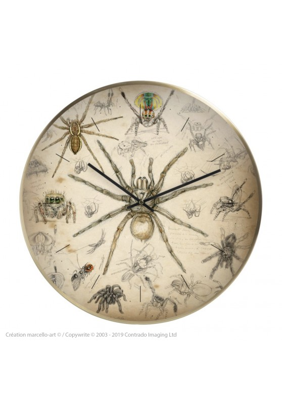 Marcello-art: Decoration accessoiries Wall clock 82 Arachna