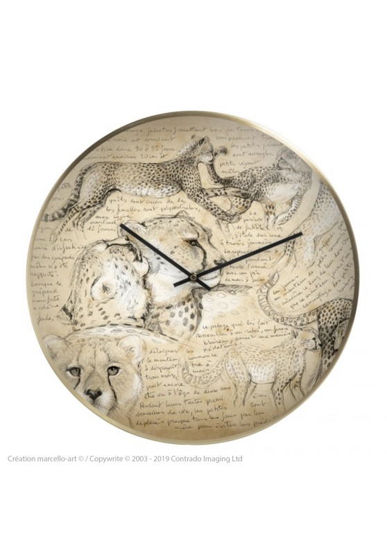 Marcello-art: Decoration accessoiries Wall clock 219 Cheetah