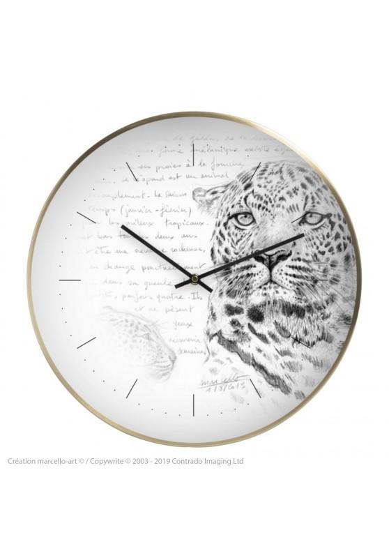 Marcello-art : Accessoires de décoration Horloge murale 229 Léopard
