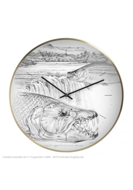 Marcello-art: Decoration accessoiries Wall clock 242 Tigerfish goliath