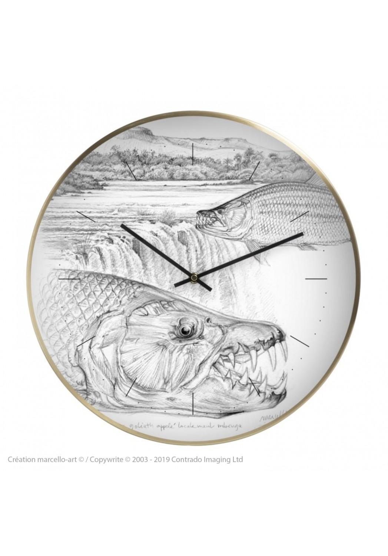 Marcello-art: Decoration accessoiries Wall clock 242 Tigerfish goliath