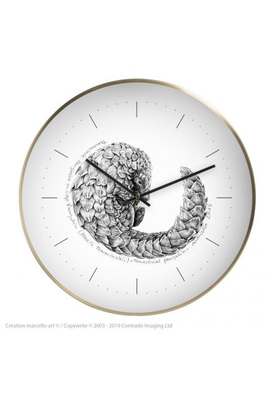 Marcello-art: Decoration accessoiries Wall clock 276 Pangolin