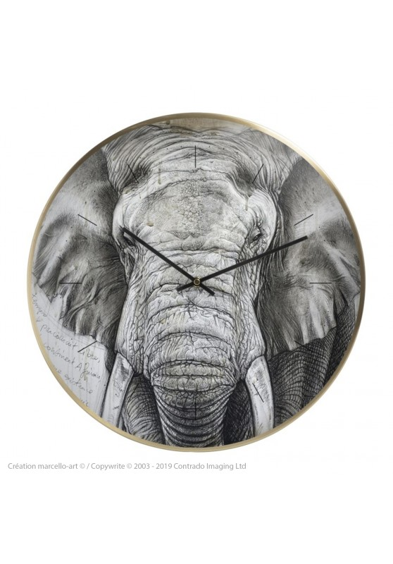 Marcello-art: Decoration accessoiries Wall clock 299 Tusker