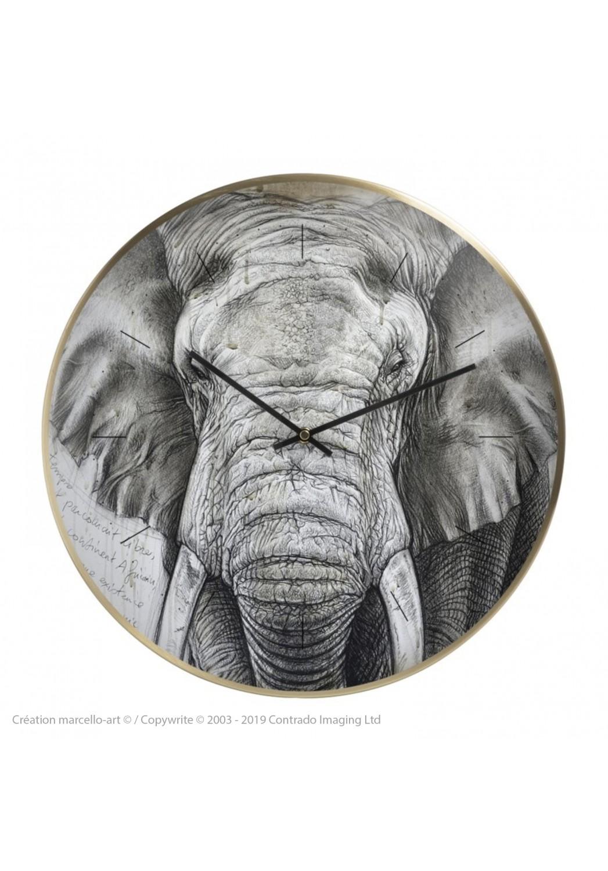 Marcello-art: Decoration accessoiries Wall clock 299 Tusker