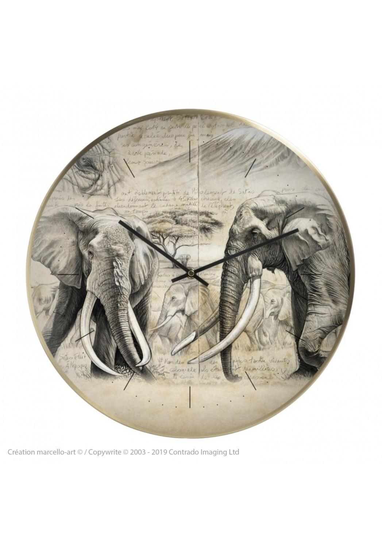 Marcello-art : Accessoires de décoration Horloge murale 303 Satao