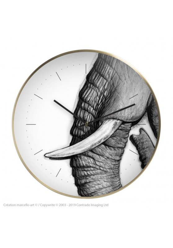 Marcello-art: Decoration accessoiries Wall clock 303 Satao trunk