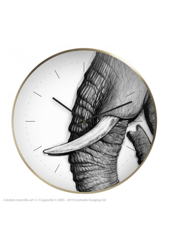 Marcello-art: Decoration accessoiries Wall clock 303 Satao trunk