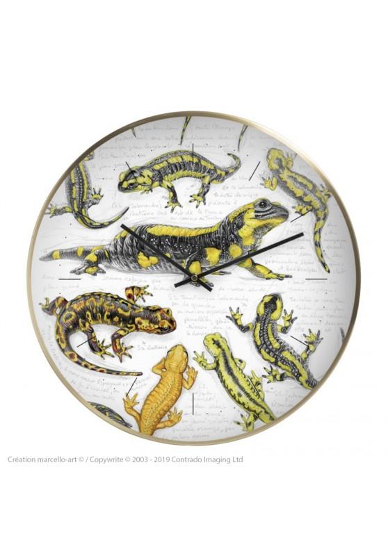 Marcello-art : Accessoires de décoration Horloge murale 383 Salamandre