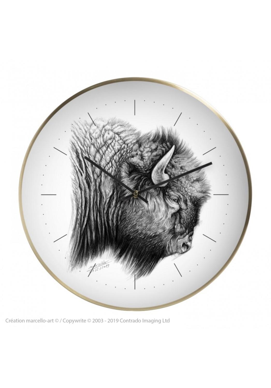 Marcello-art: Decoration accessoiries Wall clock 390 American buffalo
