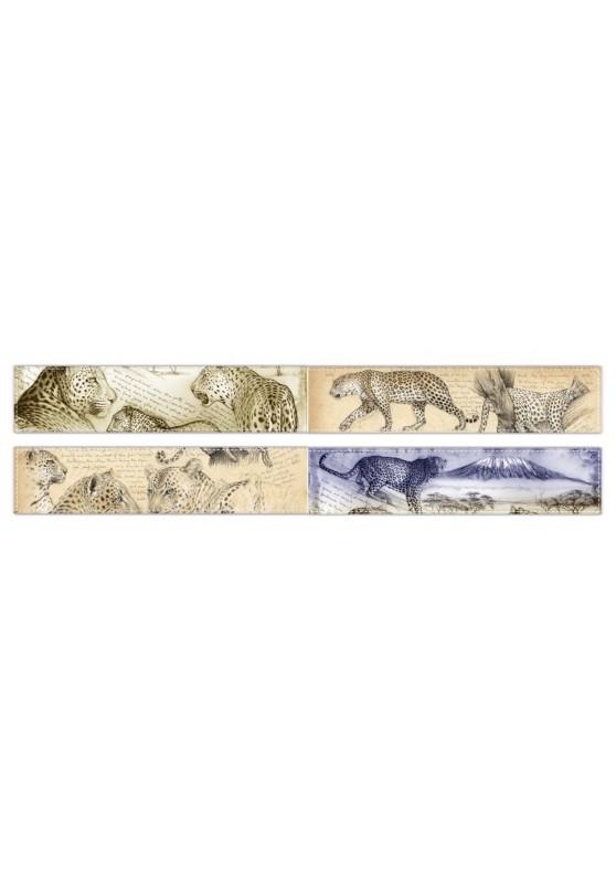 Marcello-art: Fleece scarf Fleece scarf 01 - 252 Leopard - Leopard sunset