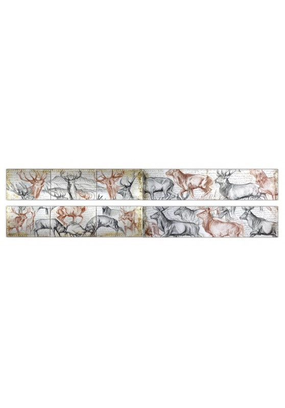 Marcello-art: Fleece scarf Fleece scarf 295 - 297 Deer slab - The last herd