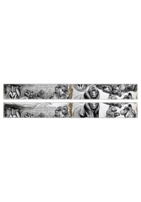 Marcello-art : Écharpe polaire Écharpe polaire 301 Gorille Virunga