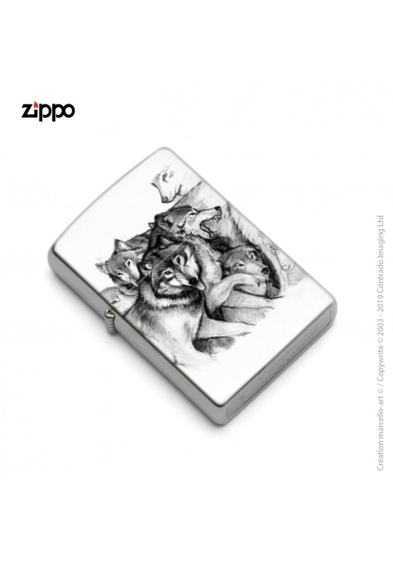 Marcello-art: Decoration accessoiries Zippo 25 wolf
