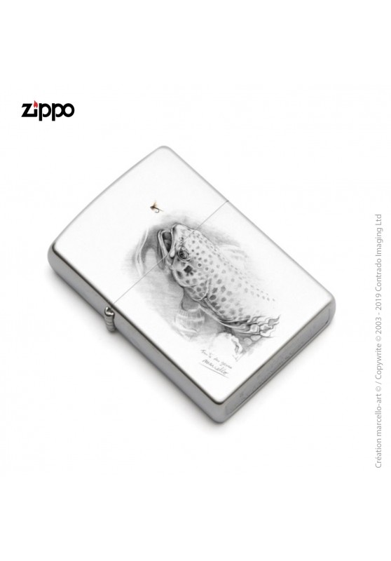 Marcello-art: Decoration accessoiries Zippo 46 Trout of the Gaves