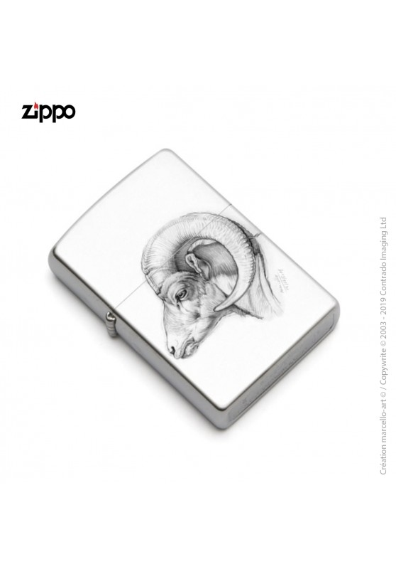 Marcello-art: Decoration accessoiries Zippo 51 bighorn sheep