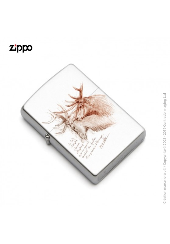 Marcello-art: Decoration accessoiries Zippo 52 red deer