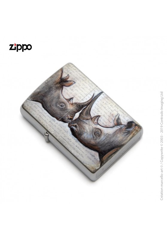 Marcello-art: Decoration accessoiries Zippo 106 rhino kiss