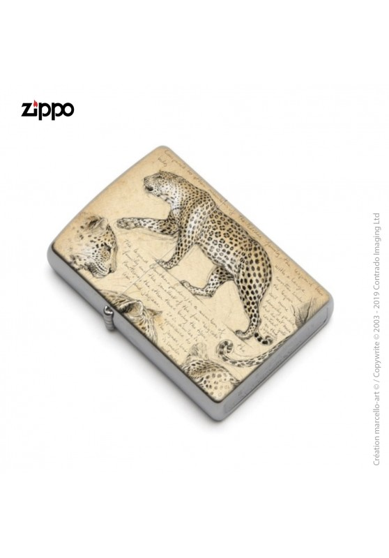 Marcello-art: Decoration accessoiries Zippo 180 leopard