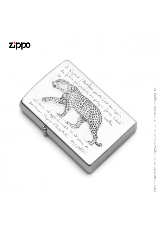 Marcello-art: Decoration accessoiries Zippo 180 leopard black & white