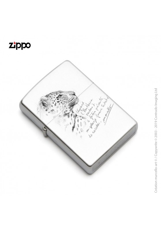 Marcello-art: Decoration accessoiries Zippo 180 leopard head