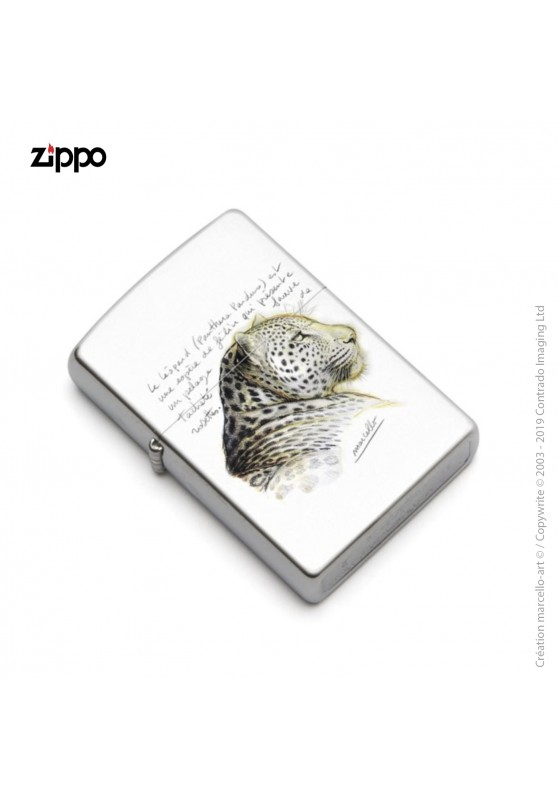 Marcello-art: Decoration accessoiries Zippo 252 leopard head