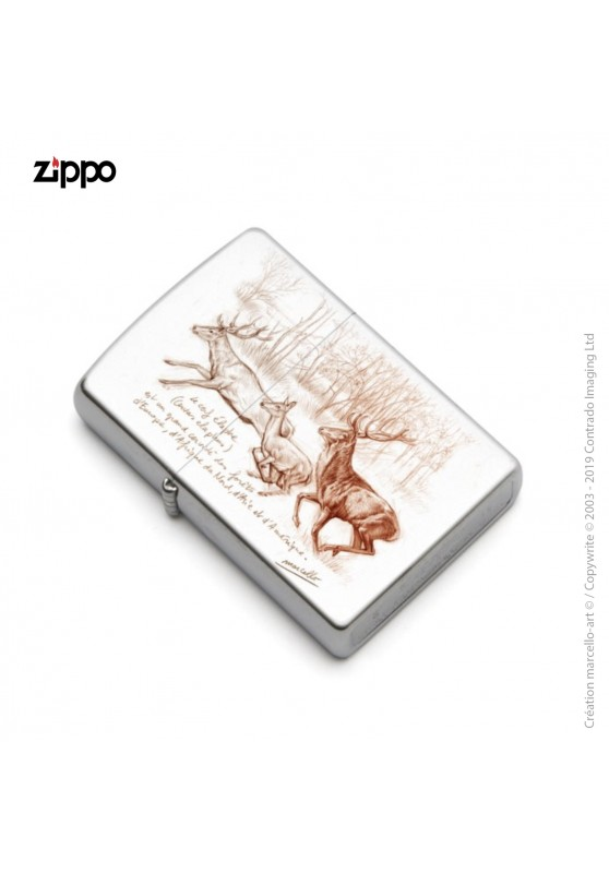 Marcello-art: Decoration accessoiries Zippo 271 red deer