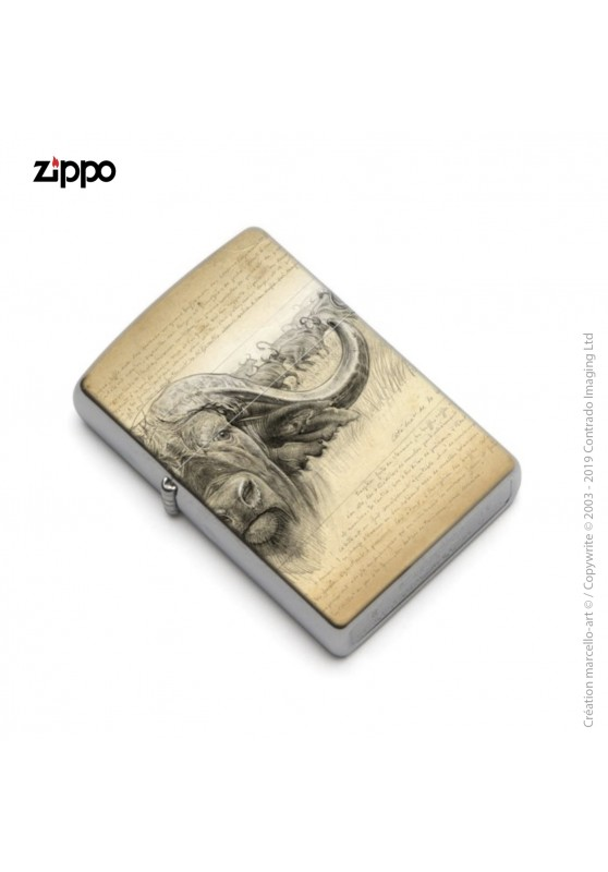 Marcello-art: Decoration accessoiries Zippo 274 cap buffalo engraving