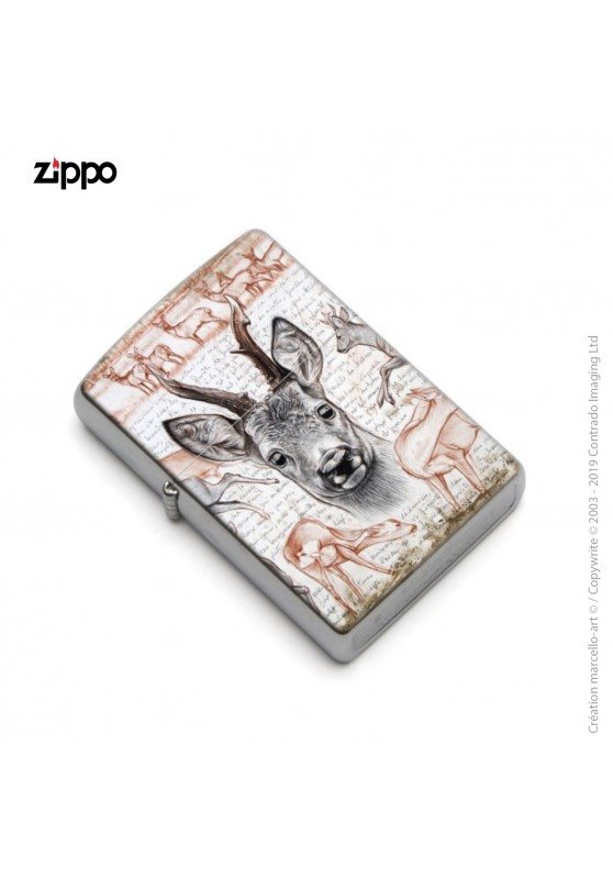 Marcello-art: Decoration accessoiries Zippo 280 roe deer