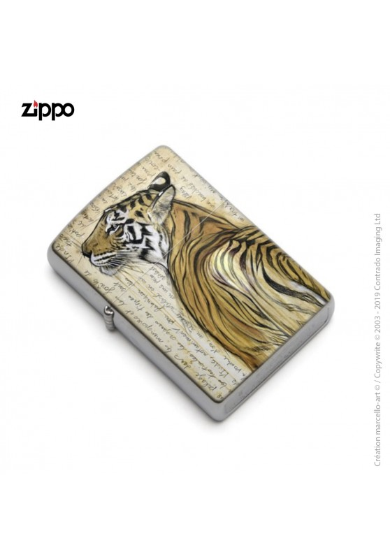 Marcello-art: Decoration accessoiries Zippo 298 Bengal tiger