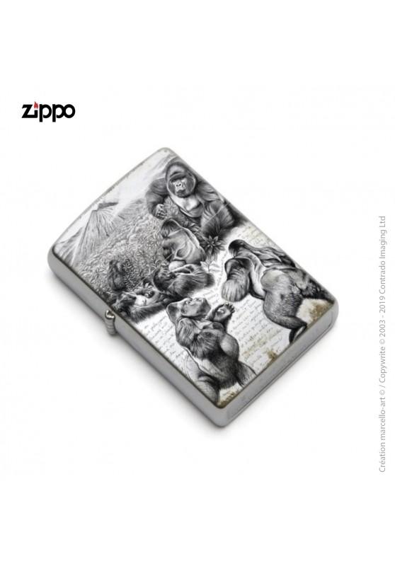Marcello-art : Accessoires de décoration Zippo 301 gorilles Virunga
