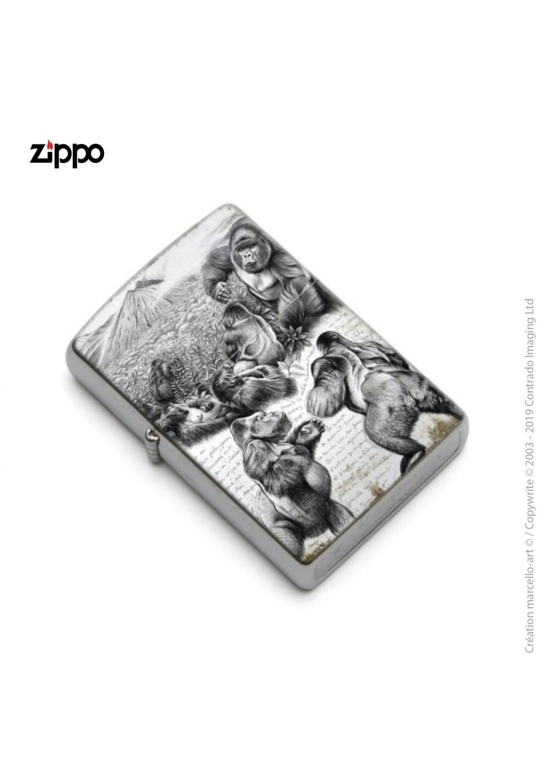 Marcello-art: Decoration accessoiries Zippo 301 Virunga gorilla